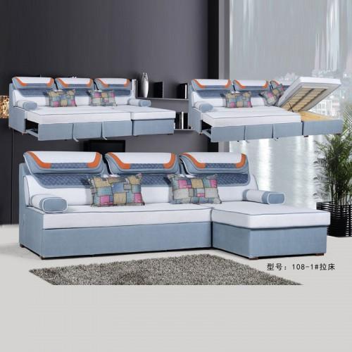 现货直发小户型转角布艺沙发 108-1#
