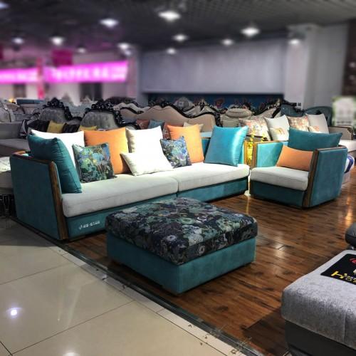 臻美品尚 客厅转角沙发 布艺休闲沙发  1840B#