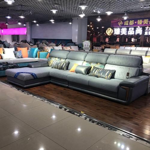 臻美品尚 简约现代布艺沙发小户型客厅家具整装沙发  254#