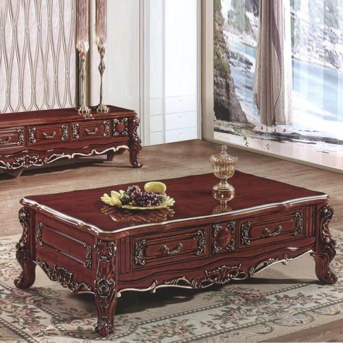 奢华新古典雕花描金客厅欧式茶几电视柜35-B#