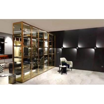 轻奢铝框玻璃酒柜