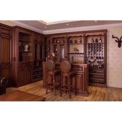 德洛尼实木酒柜