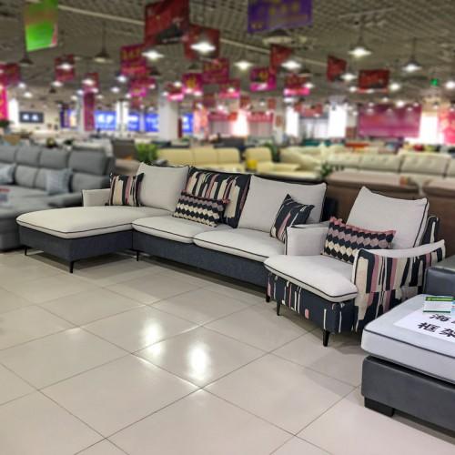 长盛沙发厂家 新款客厅北欧布艺沙发组合 676#