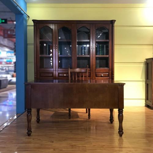 厂家批发美式书房家具书柜书桌 01#