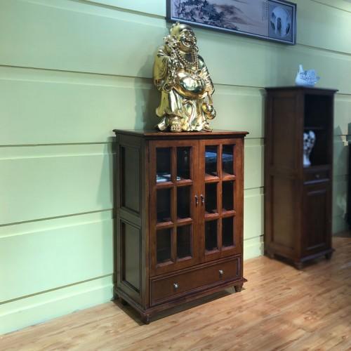 厂家定做美式客厅玻璃门储物柜 01#