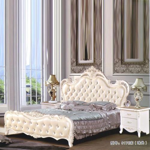 欧式卧室家具 卧室双人床供应商 917#