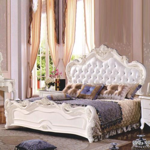 简约欧式卧室婚床舒适大床 108#