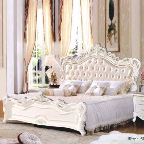 高端卧室家具厂家 欧式双人床采购 6010#