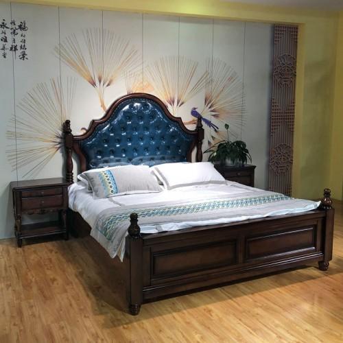美式轻奢卧室双人床 02#