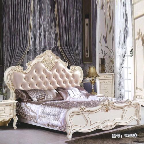 欧式卧室双人床 现货