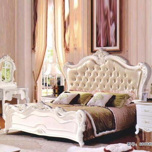 欧式轻奢卧室婚床大床  6006#