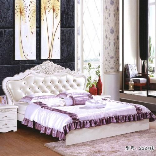 新款促销欧式双人床 卧室大床  232#
