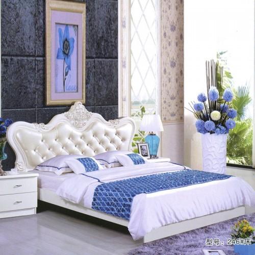 高端时尚卧室婚床 厂