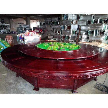 红木古典电动圆台