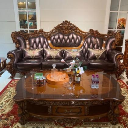 大款紫罗兰皮色沙发