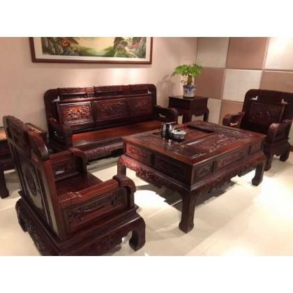 红木酒店沙发
