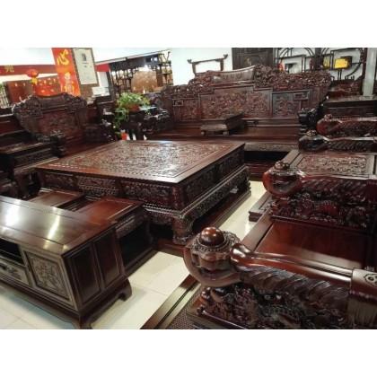 红酸枝木沙发,尺寸可以定制。