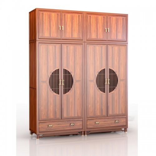 新中式实木衣柜现代中式储物衣橱 13#