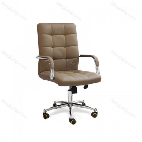 皮艺带扶手办公转椅 工厂直营电脑椅 BGY-05