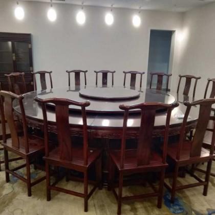 老榆木大尺寸圆桌