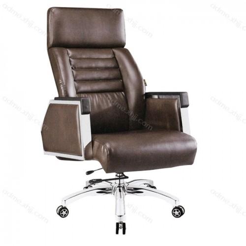 旋转老板椅 真皮办公老板椅厂家21