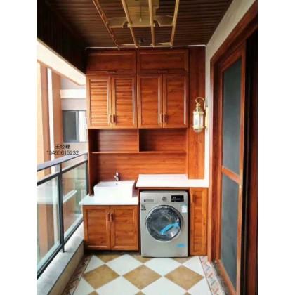 全铝定制家居 全铝阳台洗衣柜