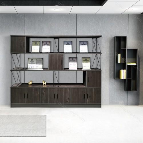时尚板式文件柜 办公室高档书柜背景价格001