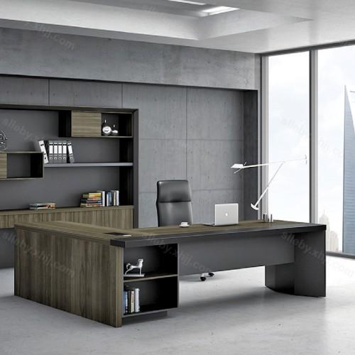 办公桌椅批发价格 板式深色办公家具 39#