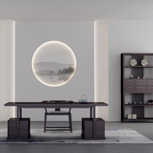 新中式风格茶桌 禅意实木茶柜桌椅组合 35#