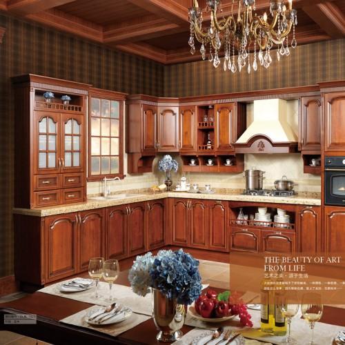 全屋定制实木橱柜 简约美式厨房家具 22#
