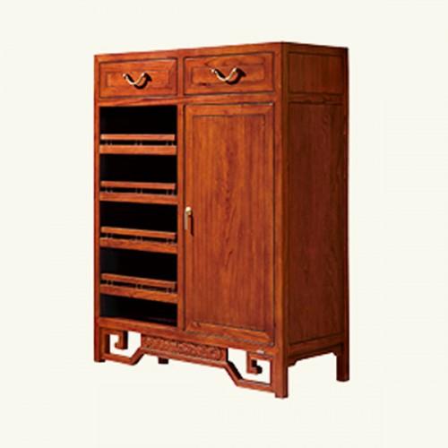 简约实木中式鞋柜储物