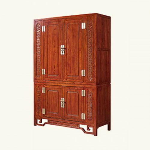 新中式?#35834;?#23454;木衣柜