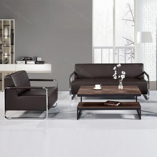 工厂现货时尚办公沙发 真皮接待沙发709-2