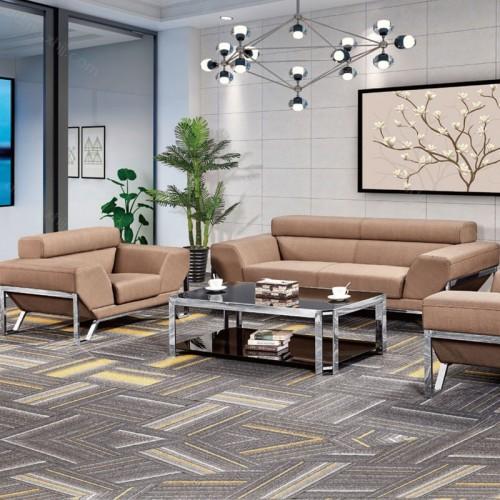 现代钢架休闲洽谈办公沙发批发促销6053