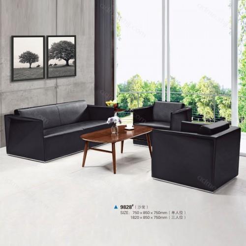 现代洽谈沙发采购 办公真皮沙发批发 9828