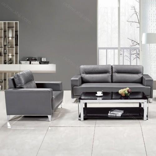 办公沙发品牌厂家 真皮洽谈沙发尺寸9016