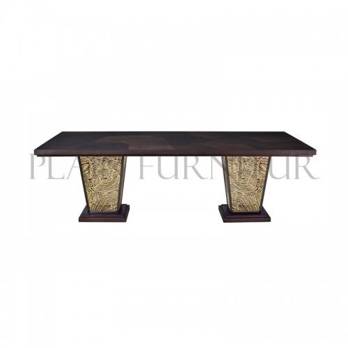 輕奢美式長方形餐桌DT