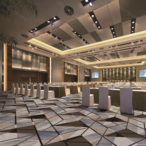 酒店办公几何形地毯定制 R6280G01