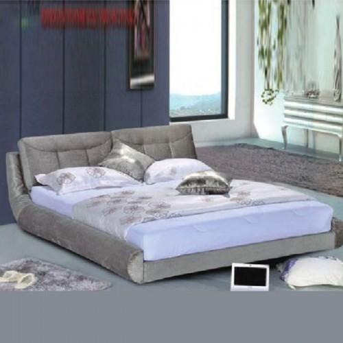家用卧室布艺软床 双