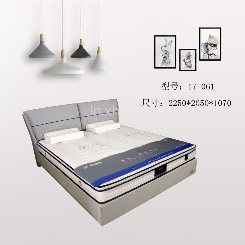 皮艺软床生产厂家 香河蓝鸟双人床价格 17-061#