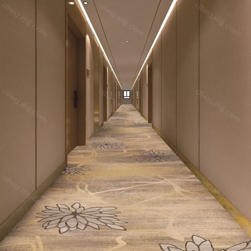 星级酒店会所走廊地毯格2F8081G01