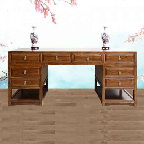 仿古实木家具电脑桌办