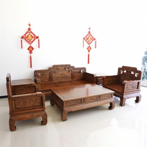 中式古典榆木沙发批发