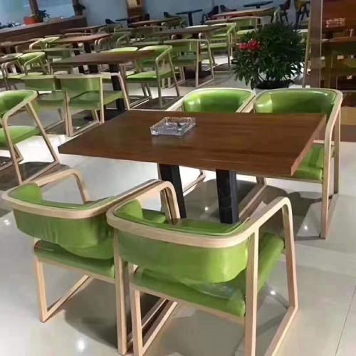 西餐厅咖啡厅扶手餐桌椅21