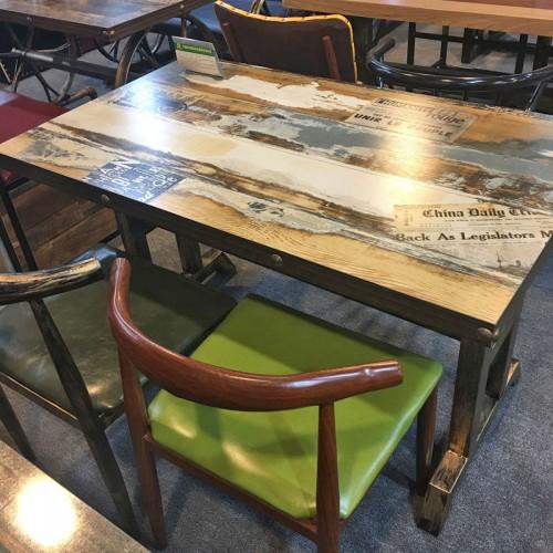 火锅烧烤铁艺复古主题桌椅定制30