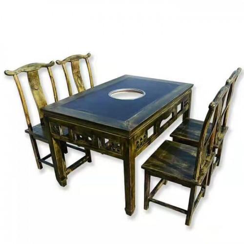 火锅店桌串串店复古火锅桌椅20