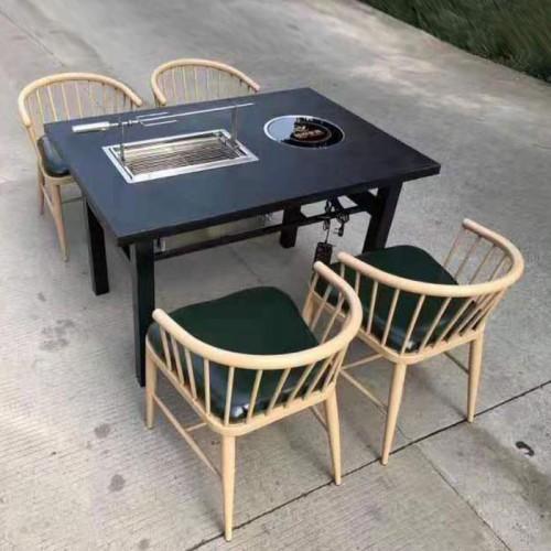 火锅桌椅自助烤涮一体桌批发厂家21