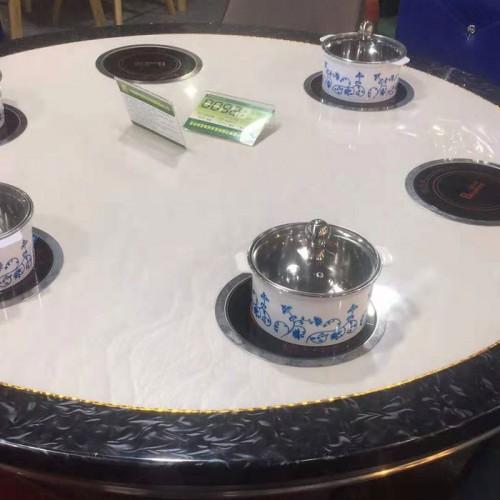 酒店电磁炉火锅桌圆餐桌52
