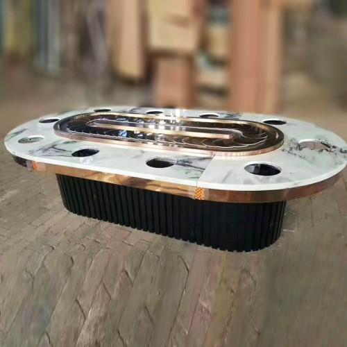 长方形回转传送带椭圆形火锅桌54