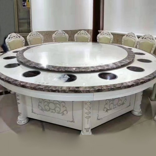 酒店欧式圆餐桌火锅桌59